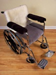 Sheepskin Wheelchair Arm Rest Pads
